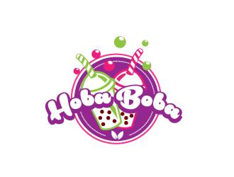 Hoba Boba logo design.
