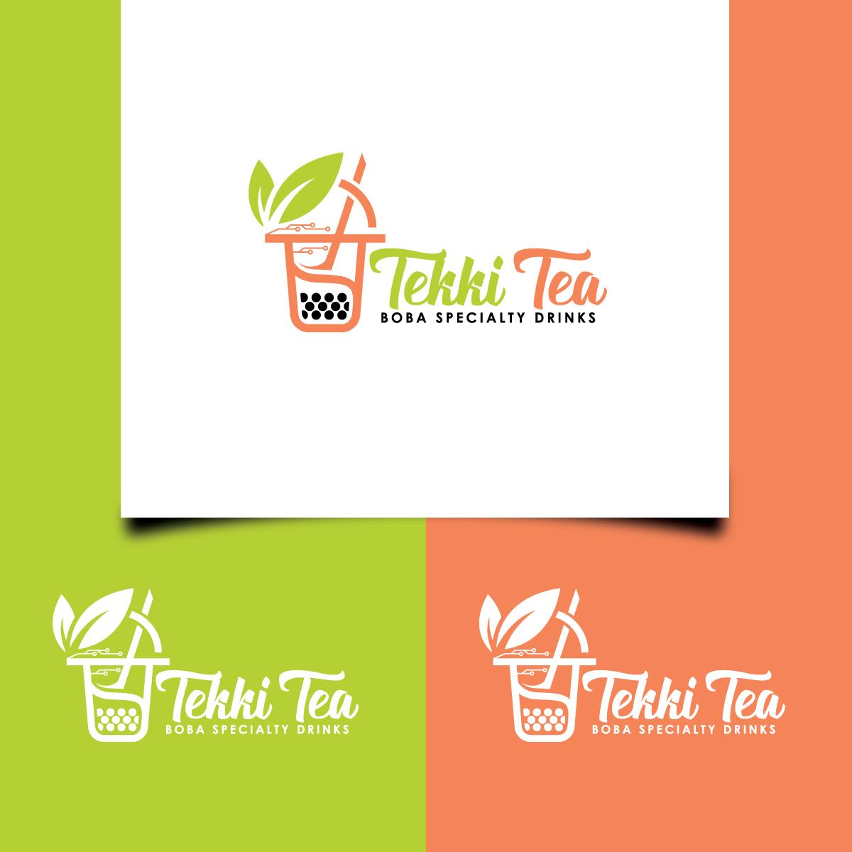 Playful, Personable Logo Design for Tekki Tea: Boba.