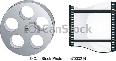 EPS Vector of bobbin and frame movie csp7003214.