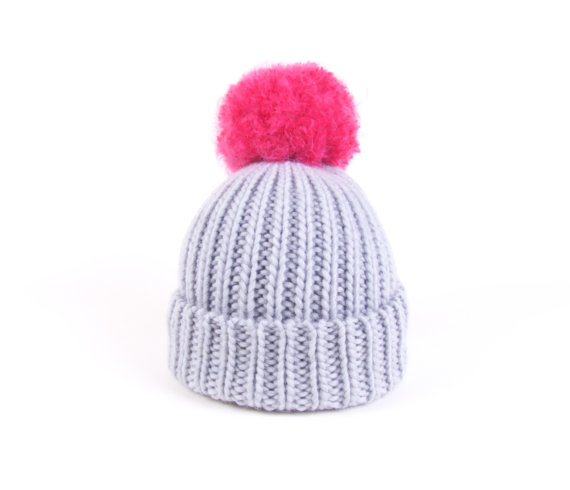 SALE 50% OFF Beanie Pom Bobble Hat Slouchy Light by ArticleApparel.