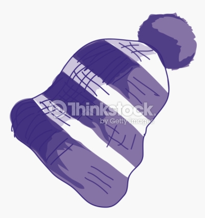 Illustration Of Purple And White Striped Bobble Hat Stock.
