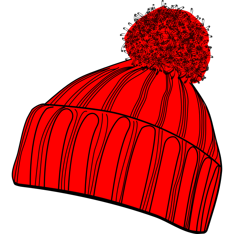 Girl winter stocking hat clipart.
