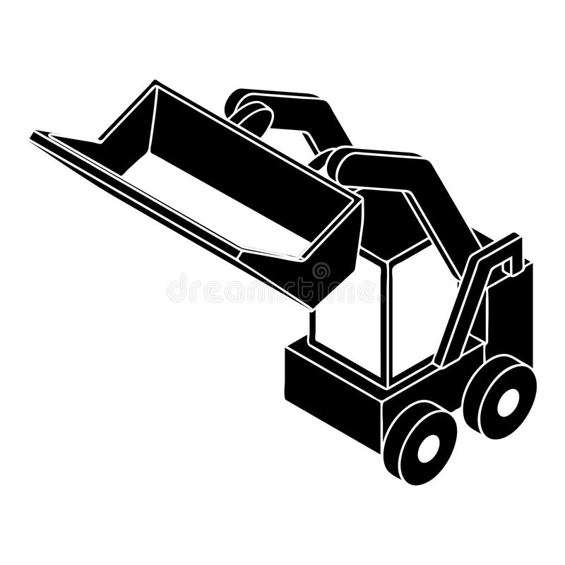 Bobcat Machine Stock Illustrations.