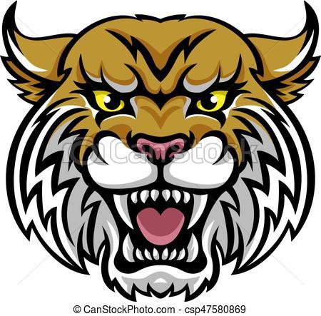 Wildcat Bobcat Mascot.