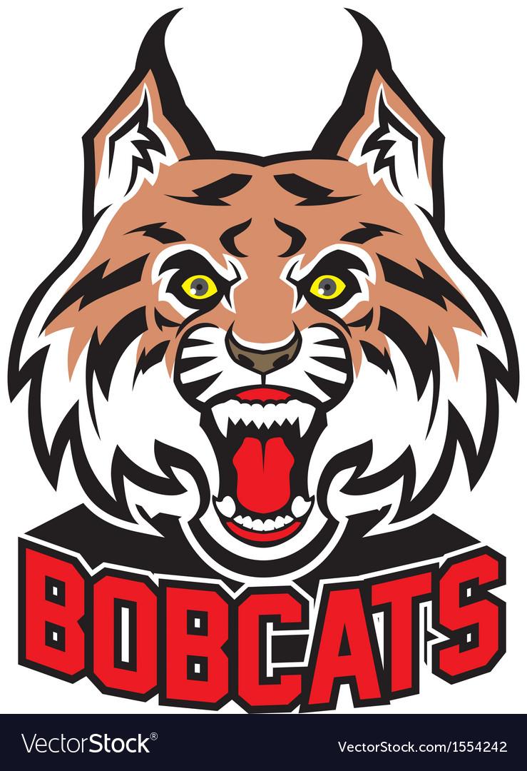 Bobcat head mascot.
