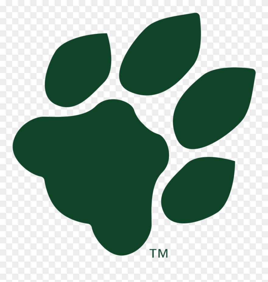 Ohio University Bobcat Paw Print Clipart (#1510596).