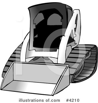 Bobcat Skid Loader Clipart #1331834.