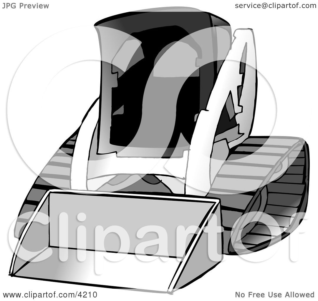Bobcat Skid Steer Loader Clipart by djart #4210.
