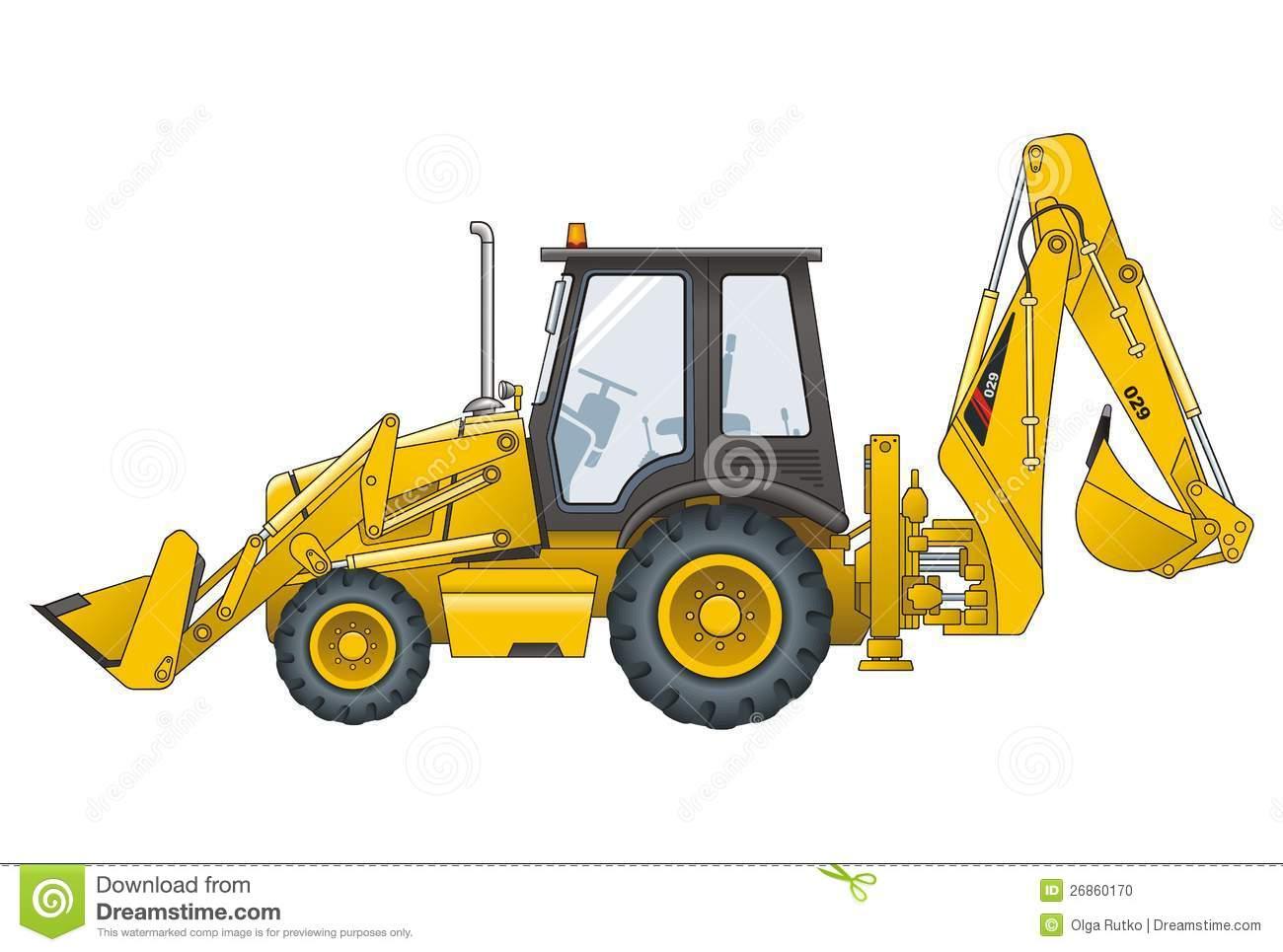 Bobcat Tractor Clipart.