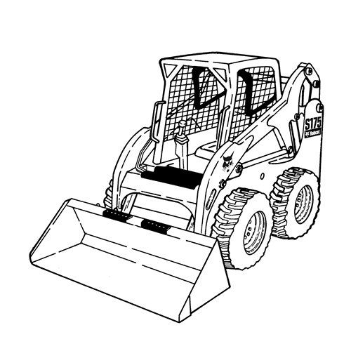 Bobcat Skid Steer Coloring Pages.
