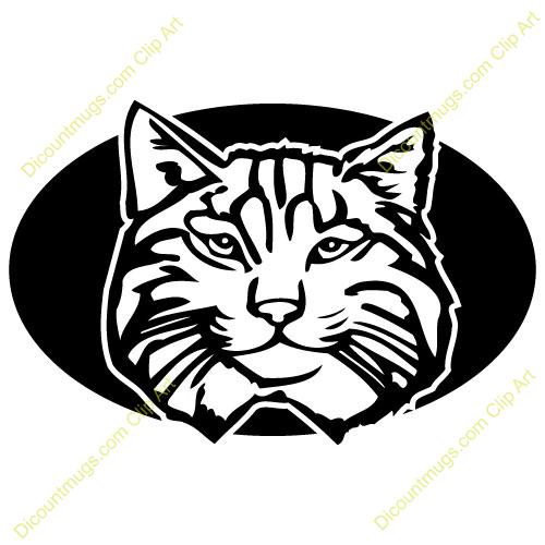 Bobcat Mascot Clipart.