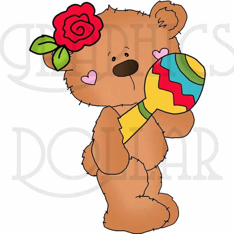 Bobo Bear Cinco de Mayo Exclusive Clip Art.