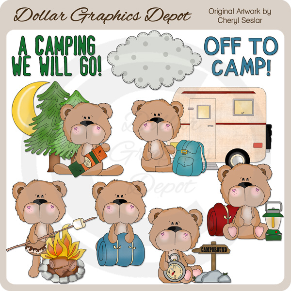 BoBo Bear Goes Camping.