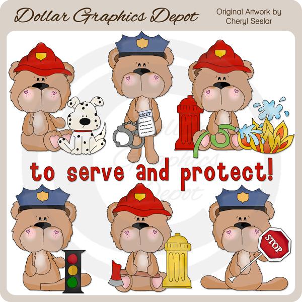BoBo Bear To Serve and Protect.