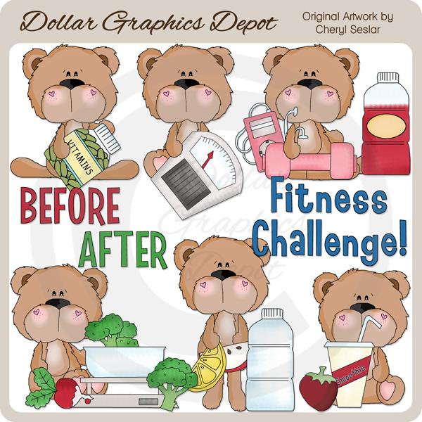 BoBo and Babs Bears Fitness Challenge.