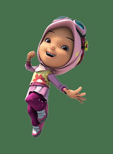 BoBoiBoy Character Yaya Jumping transparent PNG.