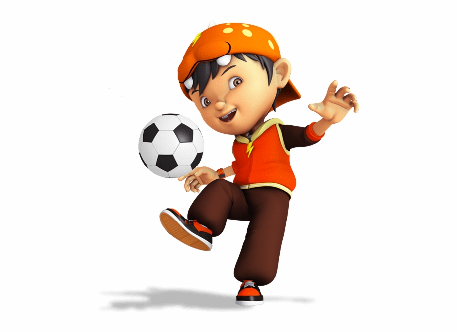 Boboiboy Playing Football.