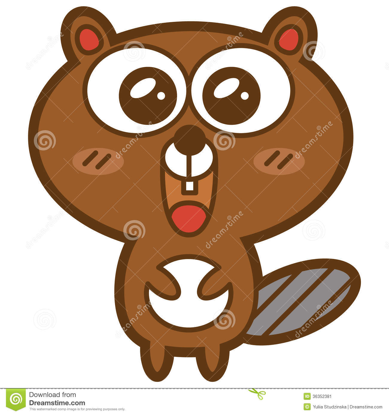Funny Beaver. Stock Image.