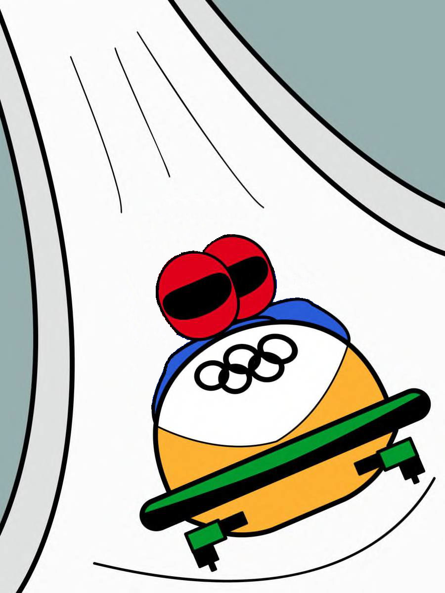 Bobsled Clipart.