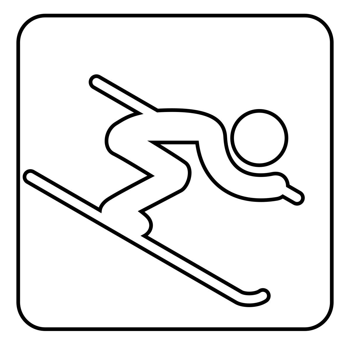 Clip Art: Sochi Winter Olympics Graphic Icon of Bobsleigh.
