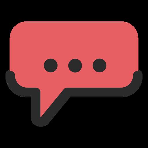Bocadillo de diálogo icono de contacto.