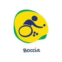 Wheelchair rugby icon Vector Image.