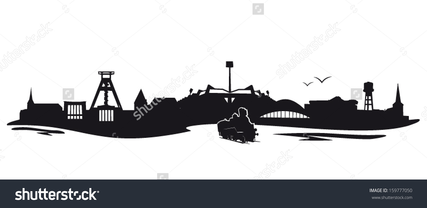 Bochum Skyline Stock Vector Illustration 159777050 : Shutterstock.