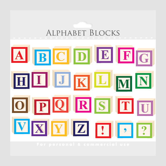 Baby letter bock clipart.