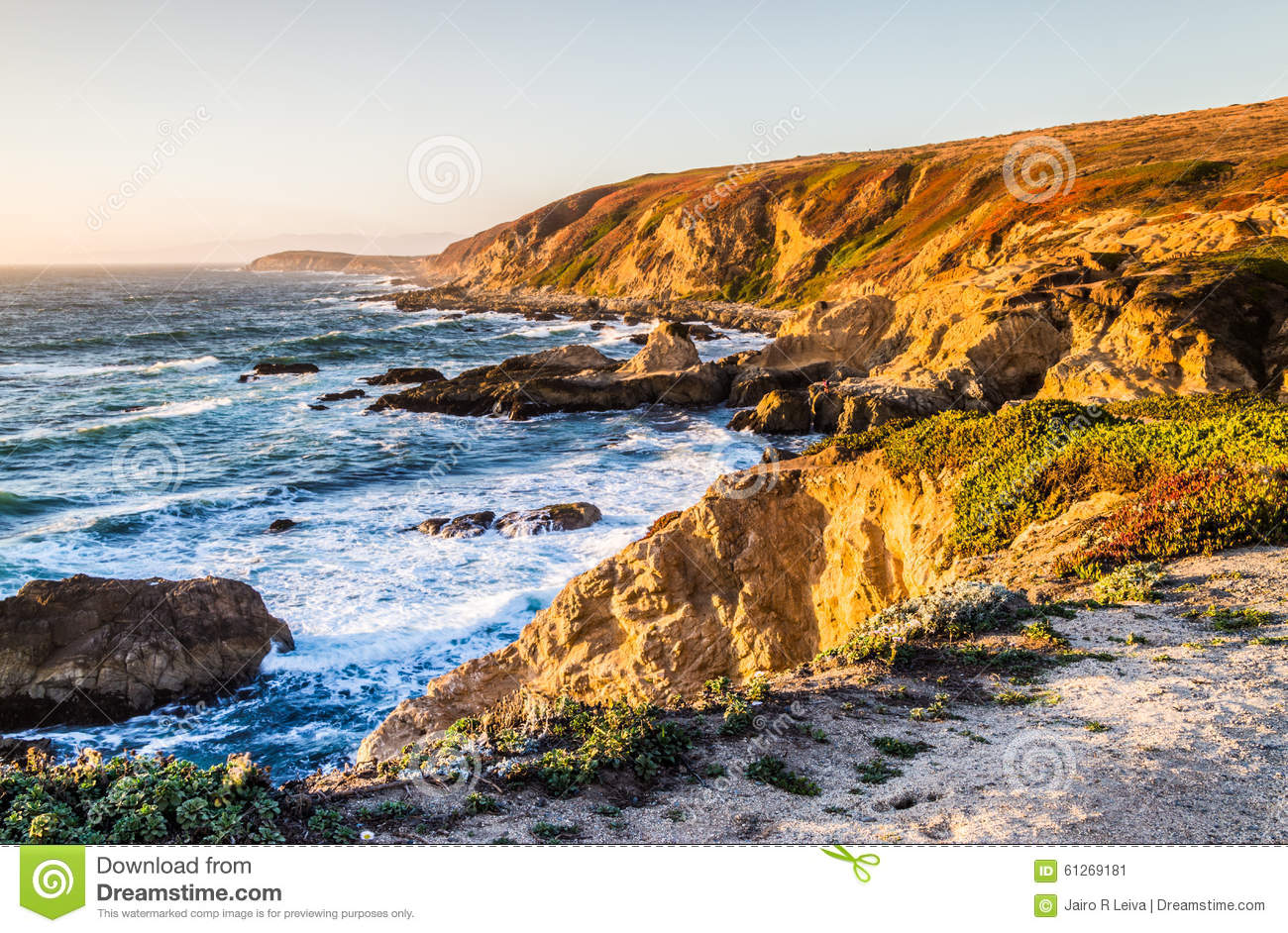 Bodega Bay Water Landscape Stock Photo.