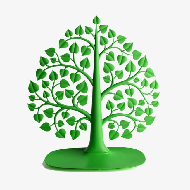 Cartoon tree bodhi tree material PNG clipart.