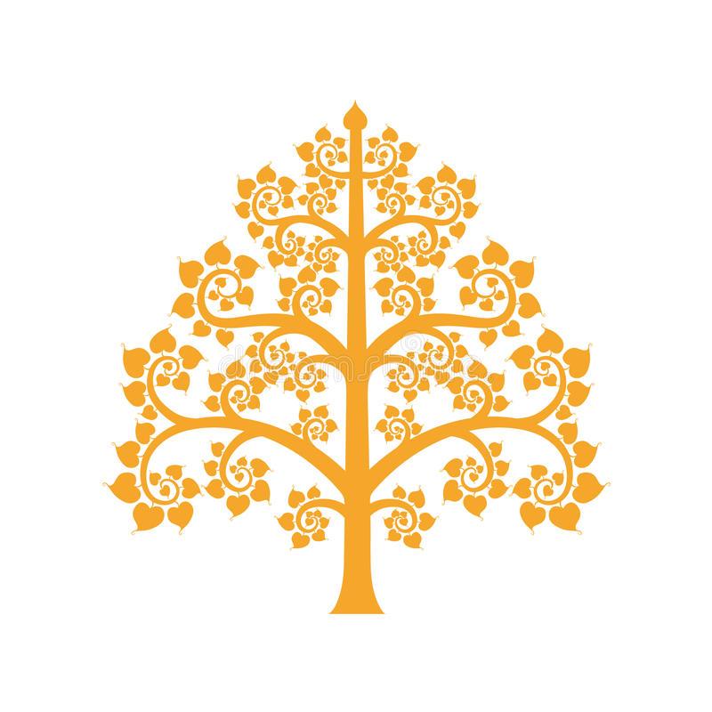 Golden Bodhi Tree Logo PNG Image Download Stock Vector.