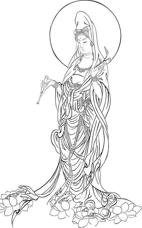 Bodhisattva Clip Art, Vector Bodhisattva.