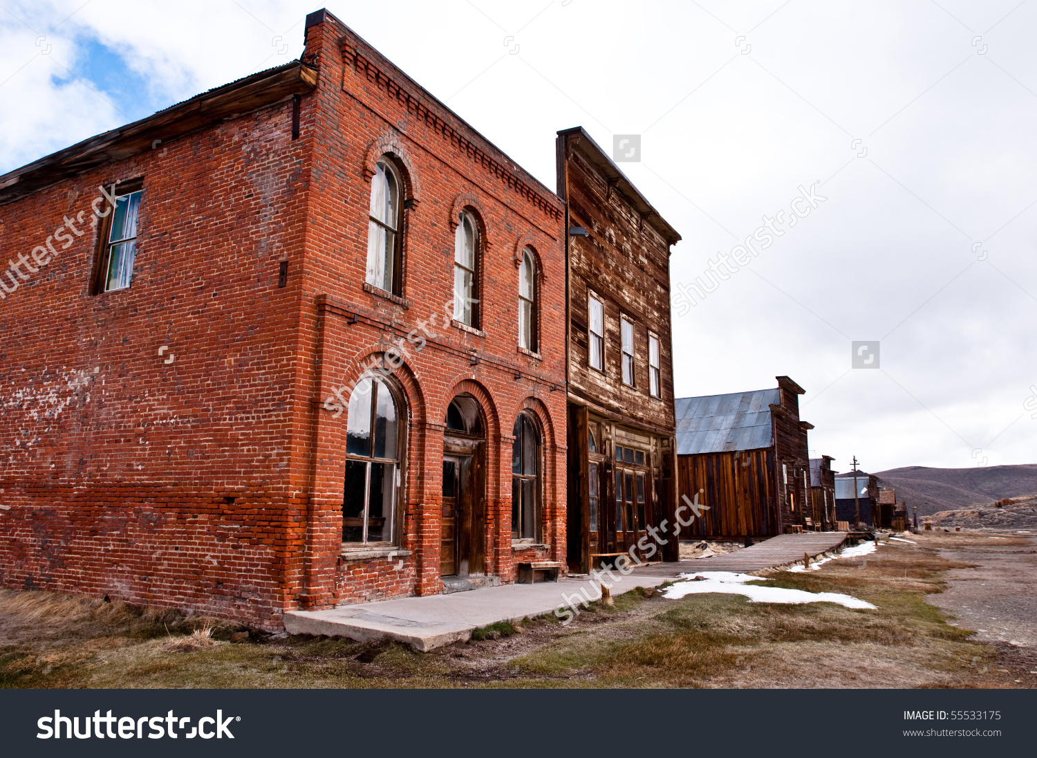 Historic Buildings In Bodie California Stock Photo 55533175.