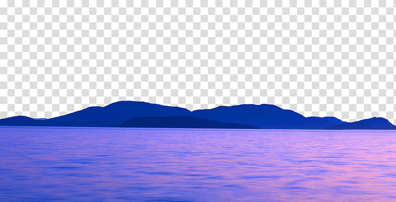 Purple aesthetic , body of water with mountains transparent.