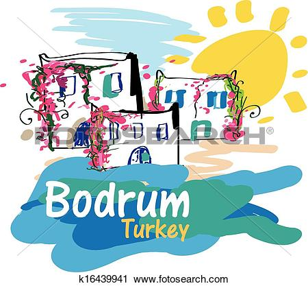 Clipart of Bodrum Illustration k16439941.