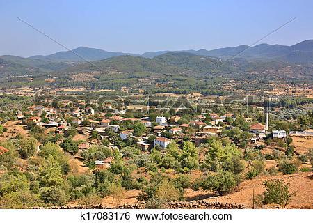 Stock Images of Mediterranean village in Bodrum, Turkey k17083176.