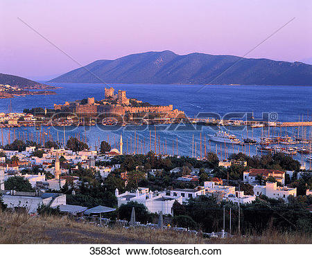 Stock Images of Turkey, Bodrum, castle. 3583ct.
