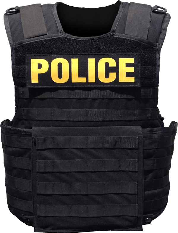 Police Body Armor transparent PNG.