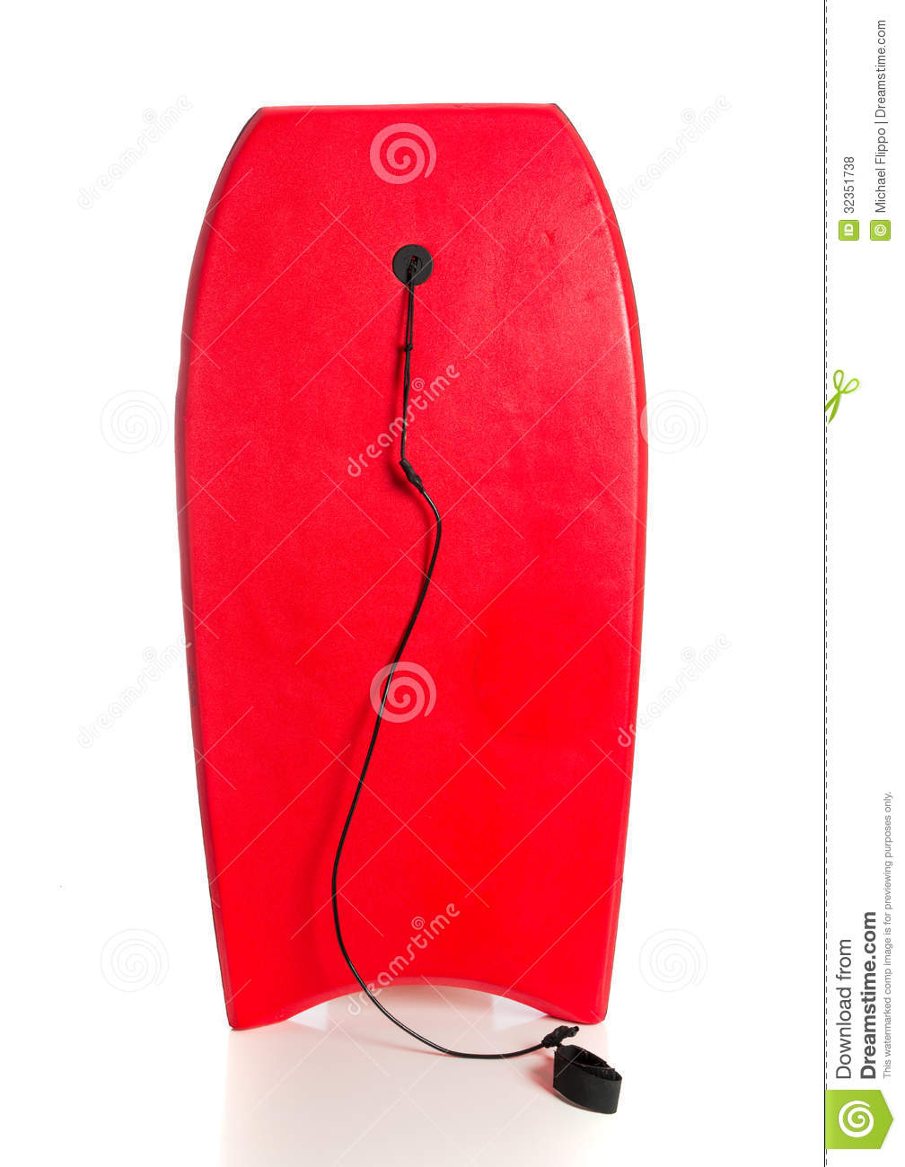Red Boogie Board On A White Background Royalty Free Stock Photos.