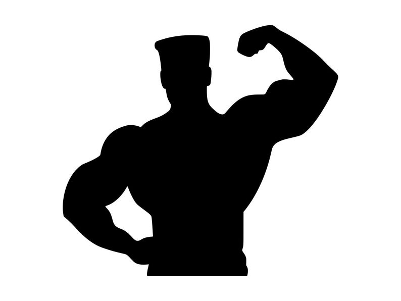 Muscle Man Svg Bodybuilder Clipart Gym Wall Art Body Builder Svg Weight  Lifter Clip Art Body Building Svg Fitness Strong Man Dxf Png Eps.