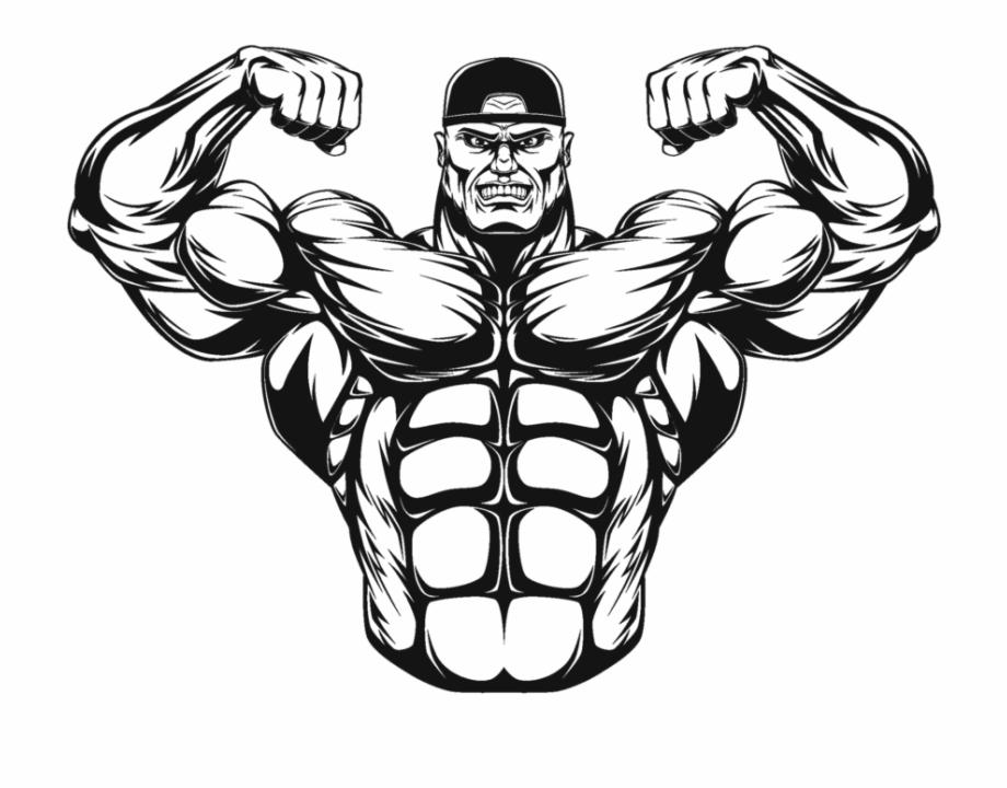 Bodybuilder Clip Art.