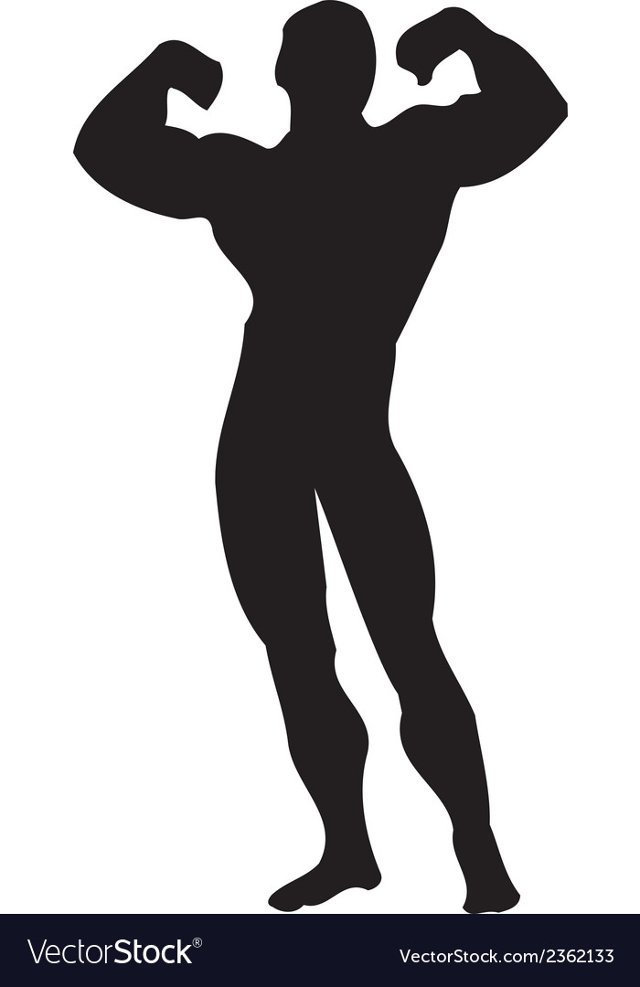 Body Builder Muscle Clipart Design.