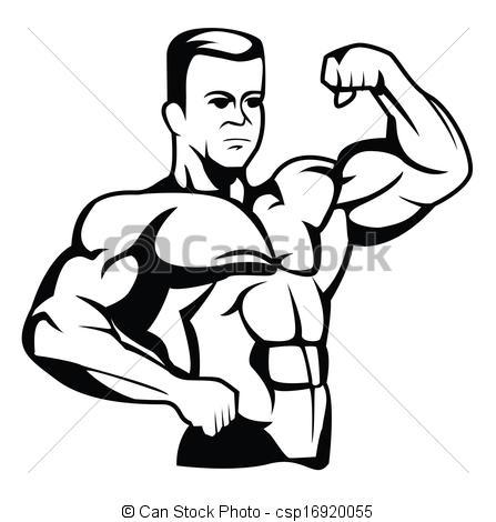 Body Builder Clip Art.