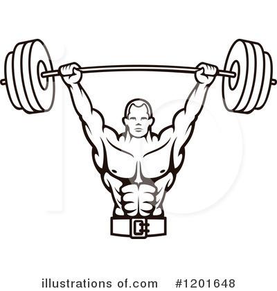 Bodybuilding Clipart #1201648.