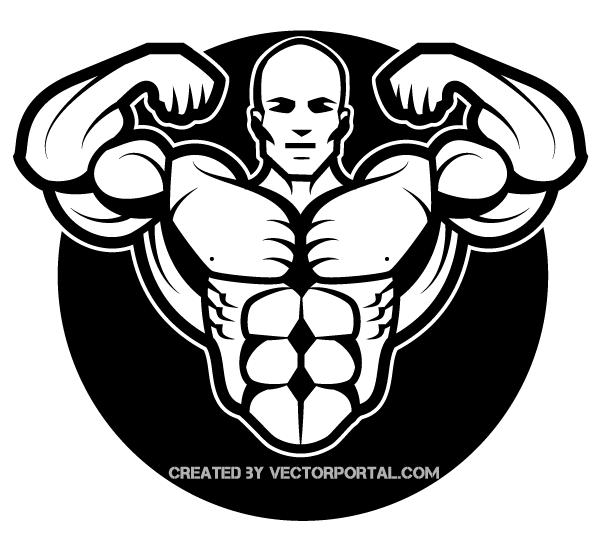 Bodybuilder Vector Image.