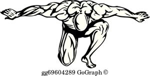 Bodybuilding Clip Art.