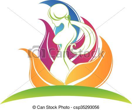 Clipart Vector of Body care logo.