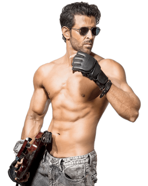 Hrithik Roshan Bare Chest transparent PNG.