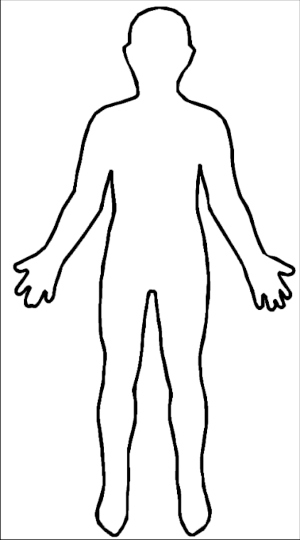 Shape Of A Body Clipart.