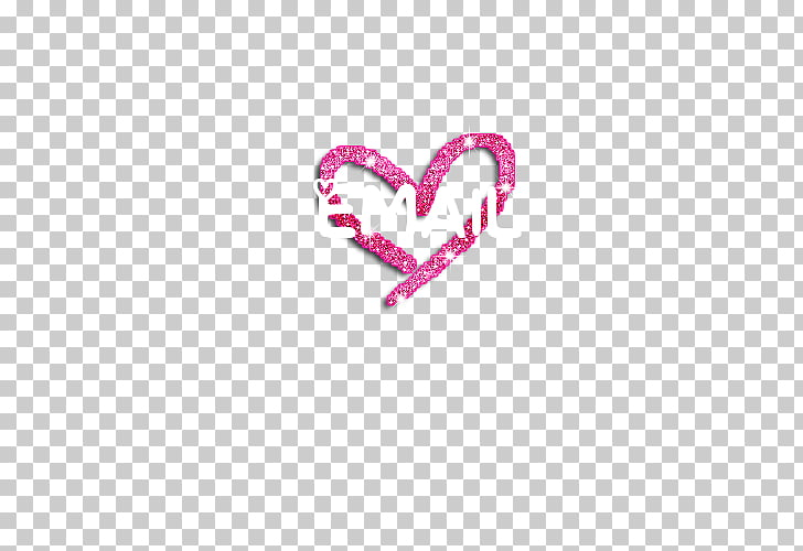 Font Pink M Body Jewellery Heart, design for picsart PNG.